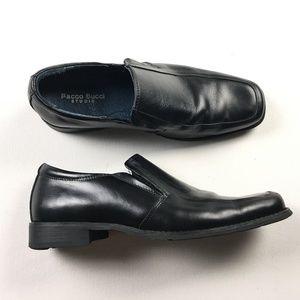 Bacco Bucci Studio Mens Black Slip On Loafers 8.5